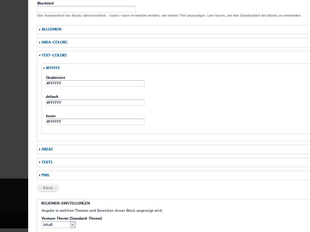 Texte bearbeiten im Drupal Modul