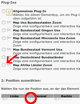Typo3 Map Extension wählen