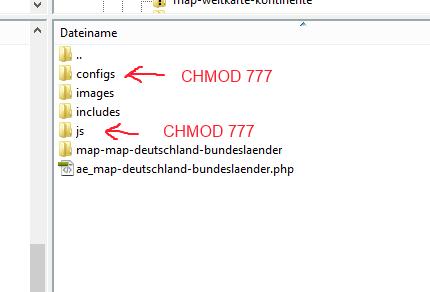 chmod 777 wordpress installation