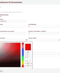 Contao Regionen-Farben wählen