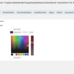 WordPress Textfarben
