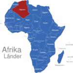 Map Afrika Länder Algerien