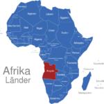 Map Afrika Länder Angola