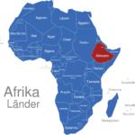 Map Afrika Länder Athiopien