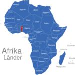 Map Afrika Länder Benin