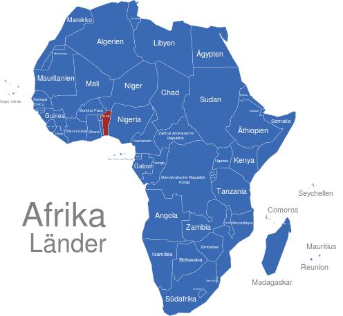 afrika länder karte Afrika Länder interaktive Landkarte | Image maps.de afrika länder karte