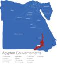 Map Agypten Gouvernements Aswan