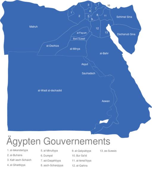 Agypten Gouvernements