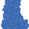 Map Albanien Kreise Delvina