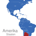 Map Amerika Länder Argentinien