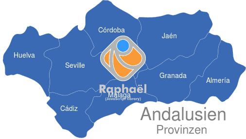 Karte Andalusien Cadiz.Andalusien Provinzen