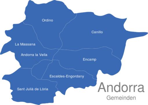 Andorra Gemeinden
