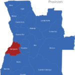 Map Angola Provinzen Benguela
