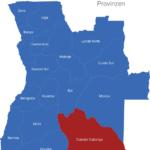 Map Angola Provinzen Cuando_Cubango