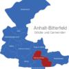 Map Anhalt Bitterfeld Bitterfeld-Wolfen