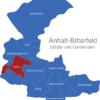 Map Anhalt Bitterfeld Köthen