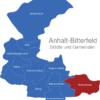 Map Anhalt Bitterfeld Muldestausee