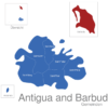 Map Antigua And Barbuda Gemeinden Barbuda
