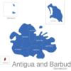 Map Antigua And Barbuda Gemeinden Redonda