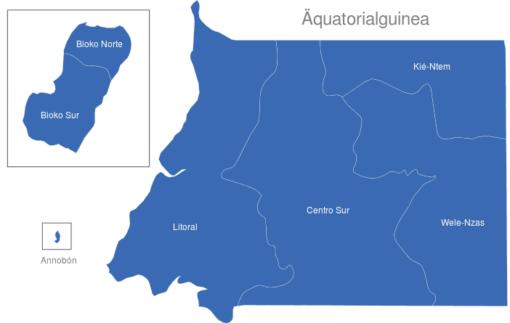Aquatorialguinea Provinzen