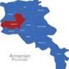 Map Armenien Provinzen Aragazotn