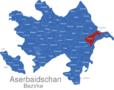 Map Aserbaidschan Bezirke Abşeron