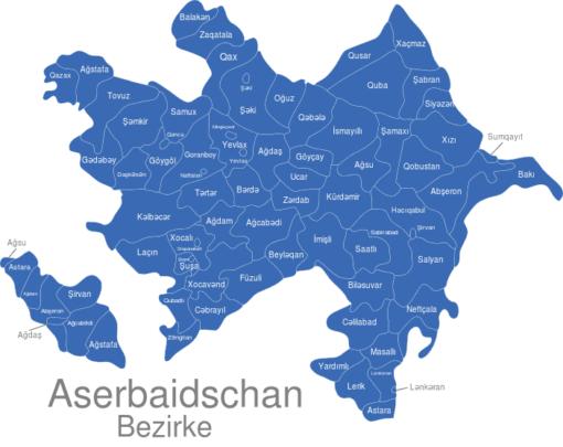 Aserbaidschan Bezirke