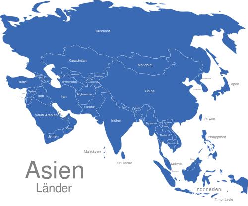 Asien Länder
