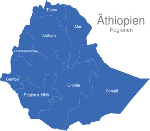 Athiopien Regionen