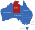 Map Australien Regionen Northern_Territory