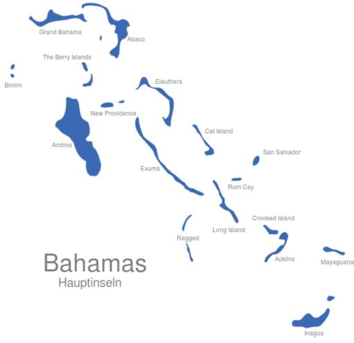Bahamas Hauptinseln