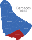 Map Barbados Bezirke Christ_Church