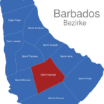 Map Barbados Bezirke Saint_George