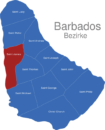 Map Barbados Bezirke Saint_James