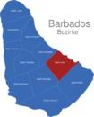 Map Barbados Bezirke Saint_John