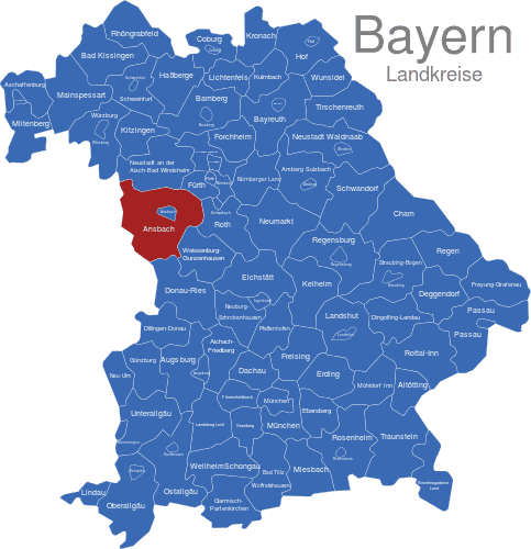 landkarte bayern landkreise Bayern Landkreise interaktive Landkarte | Image maps.de landkarte bayern landkreise