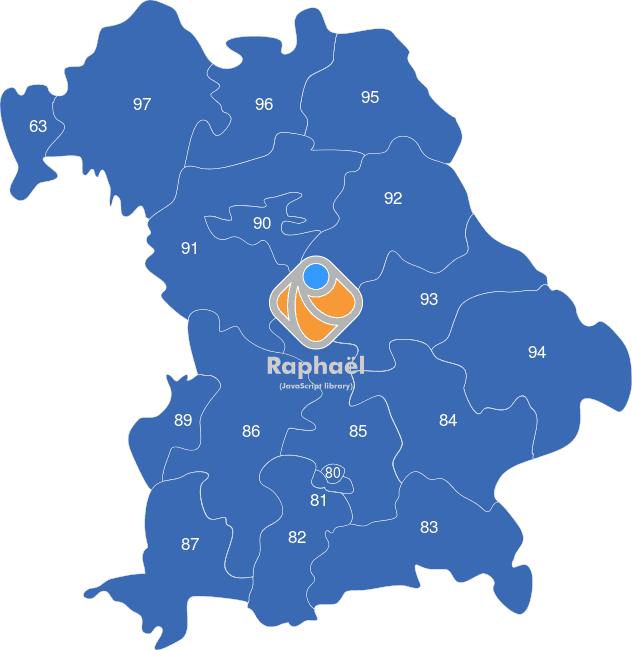 Bundesland Karte Mit Plz.Bayern Plz