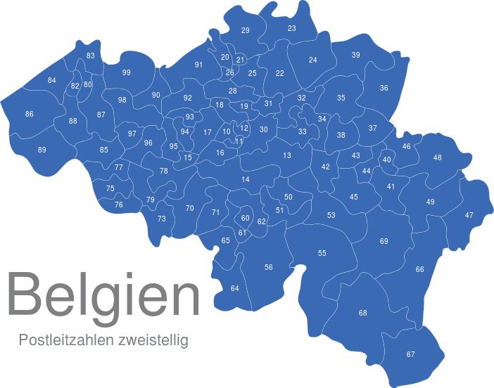 belgien postleitzahlen interaktive landkarte image. Black Bedroom Furniture Sets. Home Design Ideas