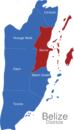 Map Belize Districte Belize