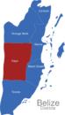 Map Belize Districte Cayo