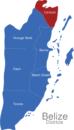 Map Belize Districte Corozal