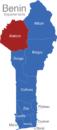 Map Benin Departement Atakora