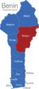 Map Benin Departement Borgou