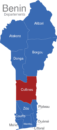 Map Benin Departement Collines
