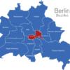 Map Berlin Bezirke Friedrichshein_Kreuzberg