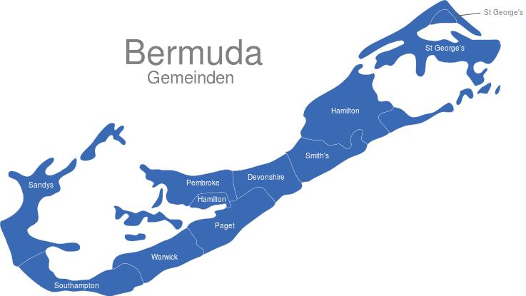 Bermuda Gemeinden interaktive Landkarte | Image-maps.de