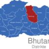Map Bhutan Distrikte Bumthang