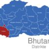 Map Bhutan Distrikte Chukha
