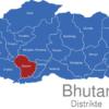 Map Bhutan Distrikte Dagana
