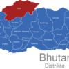 Map Bhutan Distrikte Gasa
